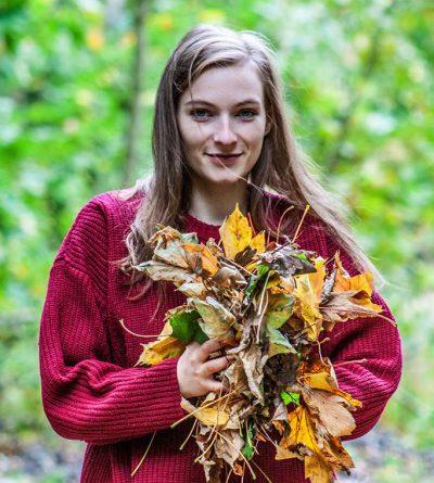 Das Bild ist ein Porait im Herbst. Location: Grunewald. Model: Lydia